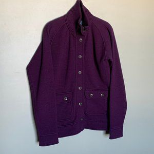 Kuhl purple button down full zip sweater medium